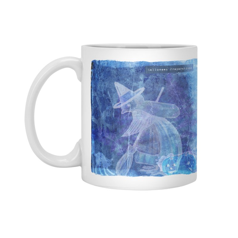 Halloween Preparations Design In Blue Boo Accessories Standard Mug by Maryheartworks's Artist Shop