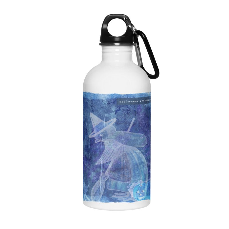 Halloween Preparations Design In Blue Boo Accessories Water Bottle by Maryheartworks's Artist Shop