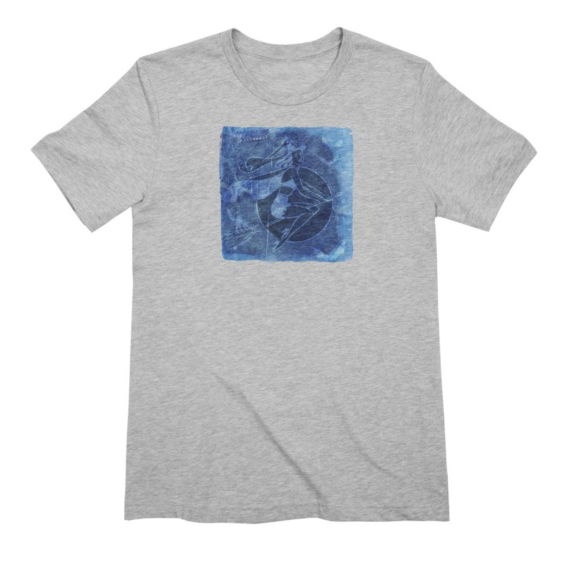 Happy Halloween Broom Riding Witch In Boo Blue! Men's Extra Soft T-Shirt by Maryheartworks's Artist Shop