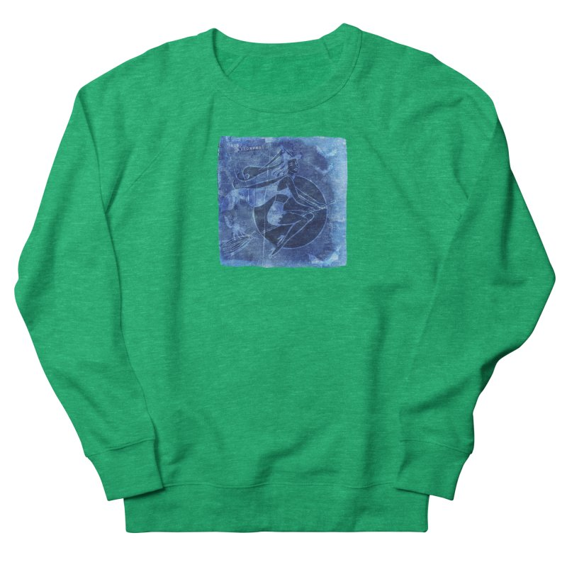 Happy Halloween Broom Riding Witch In Boo Blue! Women's Sweatshirt by Maryheartworks's Artist Shop