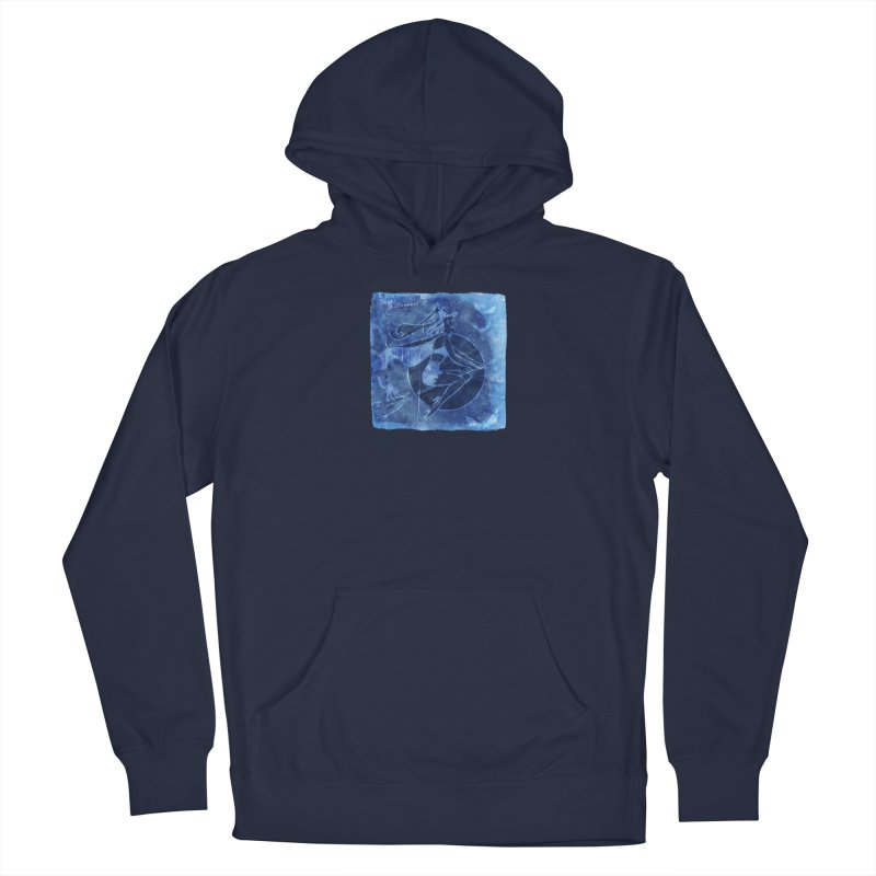 Happy Halloween Broom Riding Witch In Boo Blue! Men's Pullover Hoody by Maryheartworks's Artist Shop