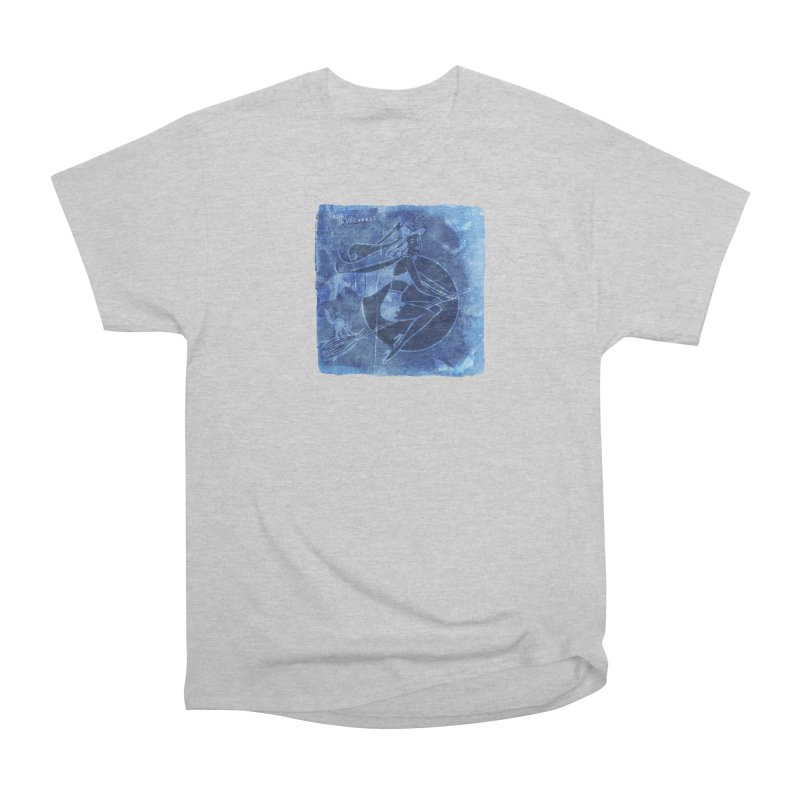 Happy Halloween Broom Riding Witch In Boo Blue! Women's Heavyweight Unisex T-Shirt by Maryheartworks's Artist Shop
