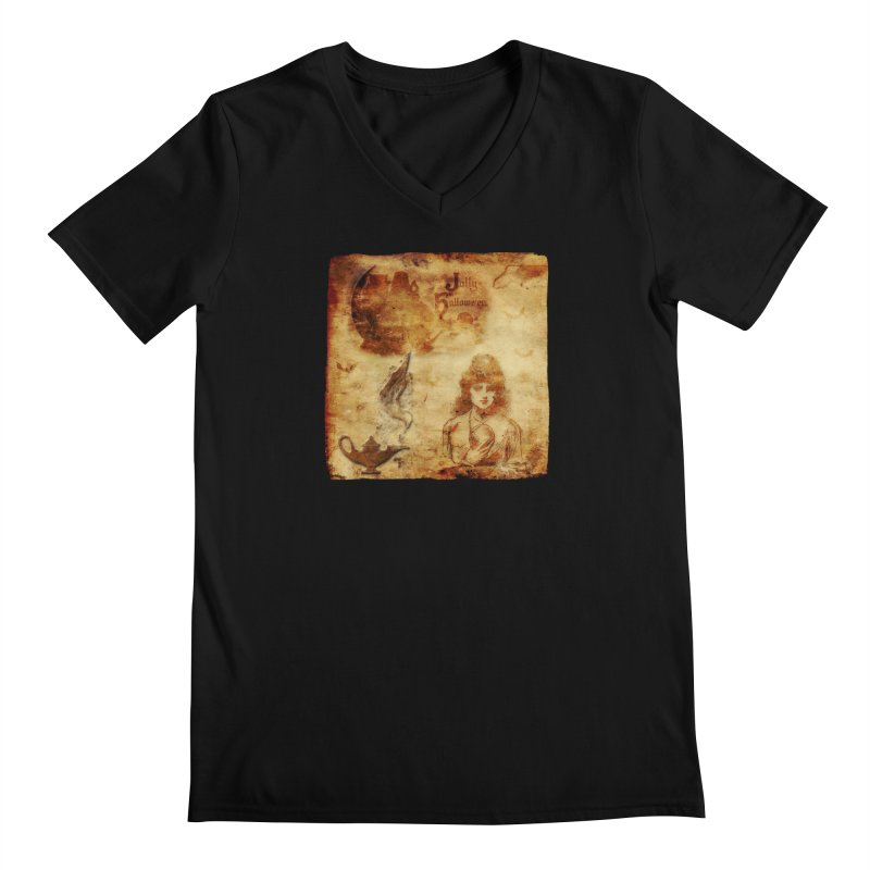 A Jolly Halloween - The Fortune Teller Men's Regular V-Neck by Maryheartworks's Artist Shop