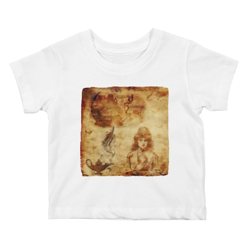 A Jolly Halloween - The Fortune Teller Kids Baby T-Shirt by Maryheartworks's Artist Shop