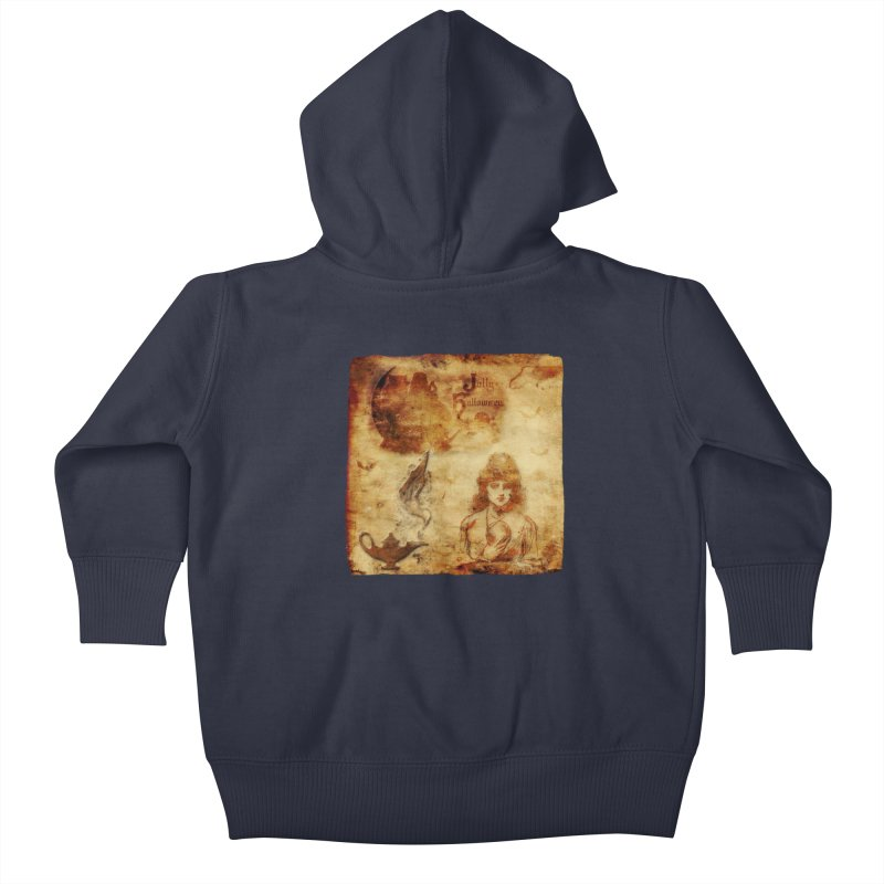 A Jolly Halloween - The Fortune Teller Kids Baby Zip-Up Hoody by Maryheartworks's Artist Shop