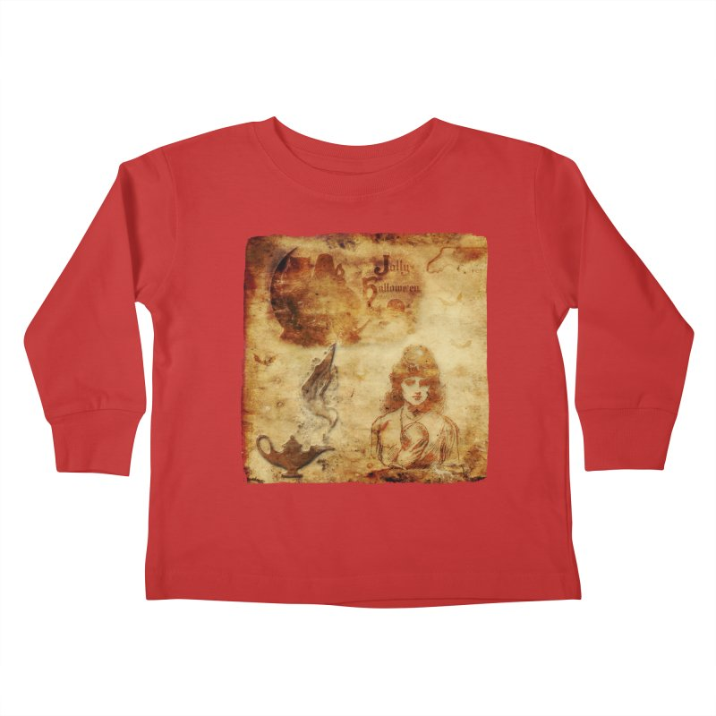 A Jolly Halloween - The Fortune Teller Kids Toddler Longsleeve T-Shirt by Maryheartworks's Artist Shop