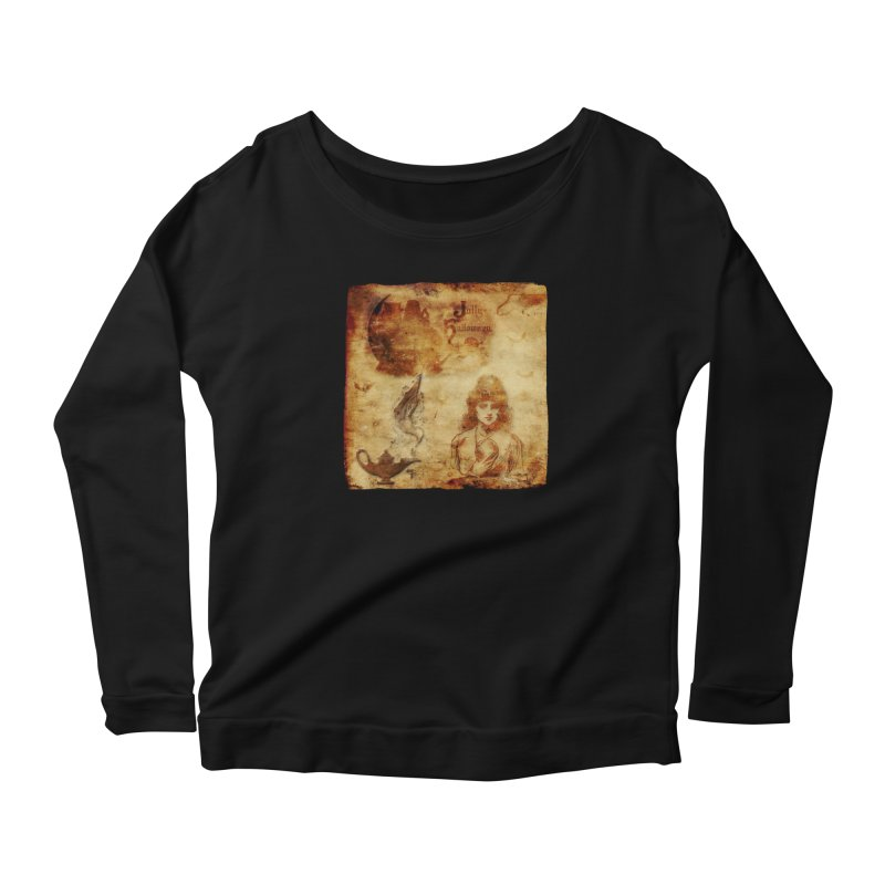 A Jolly Halloween - The Fortune Teller Women's Scoop Neck Longsleeve T-Shirt by Maryheartworks's Artist Shop