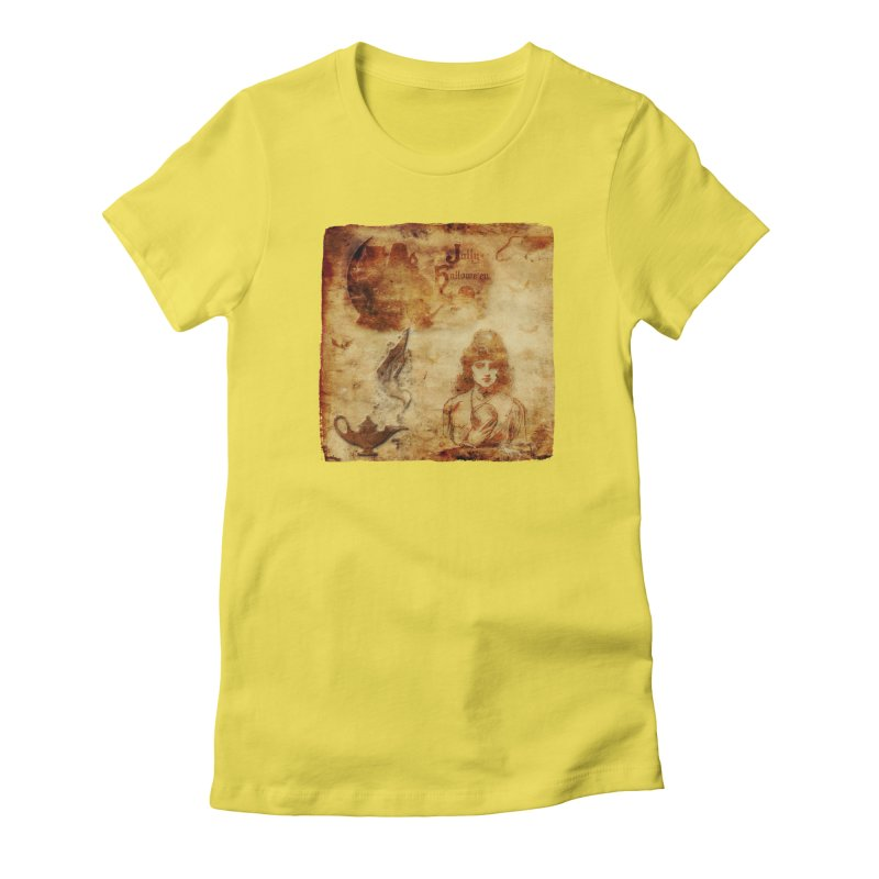 A Jolly Halloween - The Fortune Teller Women's Fitted T-Shirt by Maryheartworks's Artist Shop