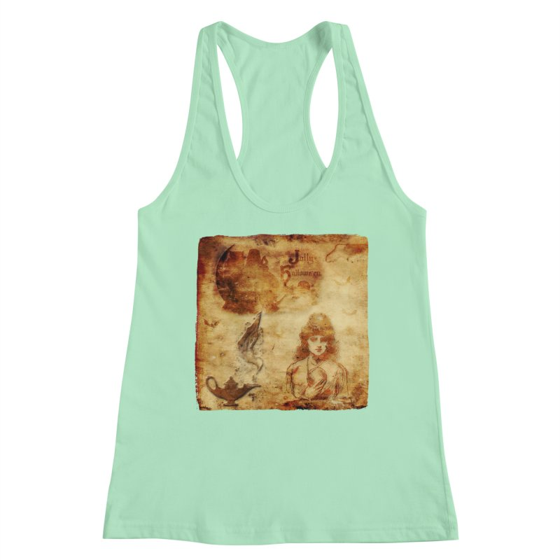 A Jolly Halloween - The Fortune Teller Women's Racerback Tank by Maryheartworks's Artist Shop