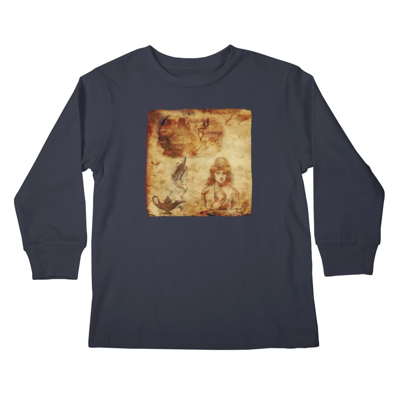 A Jolly Halloween - The Fortune Teller Kids Longsleeve T-Shirt by Maryheartworks's Artist Shop