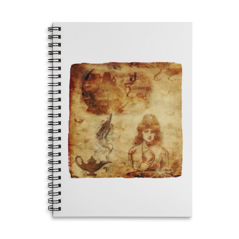 A Jolly Halloween - The Fortune Teller Accessories Lined Spiral Notebook by Maryheartworks's Artist Shop