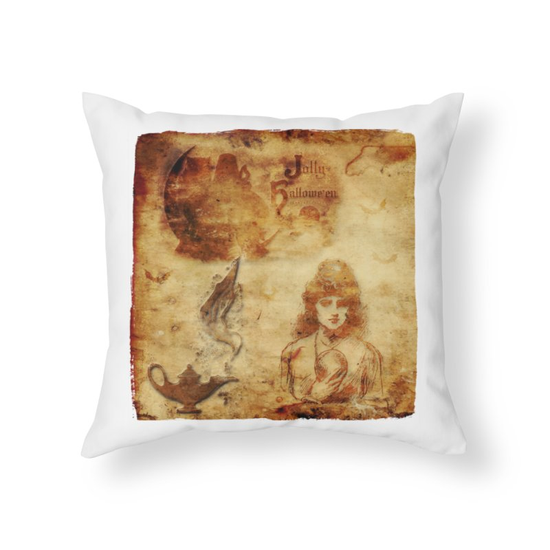A Jolly Halloween - The Fortune Teller Home Throw Pillow by Maryheartworks's Artist Shop