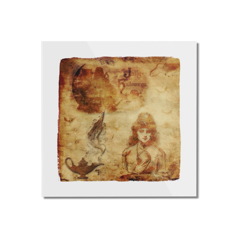 A Jolly Halloween - The Fortune Teller Home Mounted Acrylic Print by Maryheartworks's Artist Shop