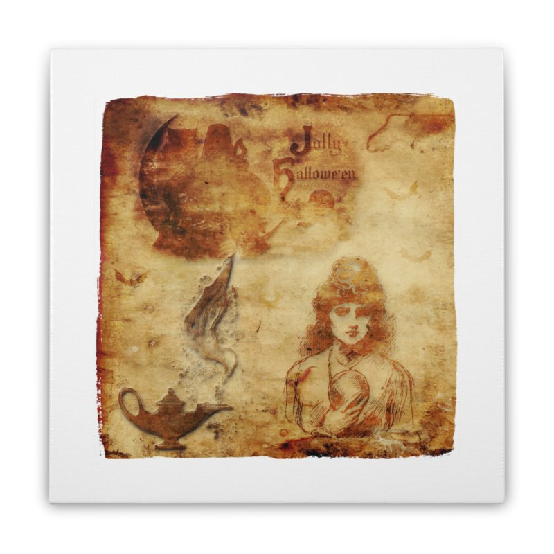 A Jolly Halloween - The Fortune Teller Home Stretched Canvas by Maryheartworks's Artist Shop