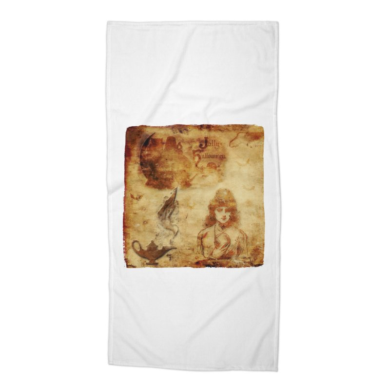 A Jolly Halloween - The Fortune Teller Accessories Beach Towel by Maryheartworks's Artist Shop