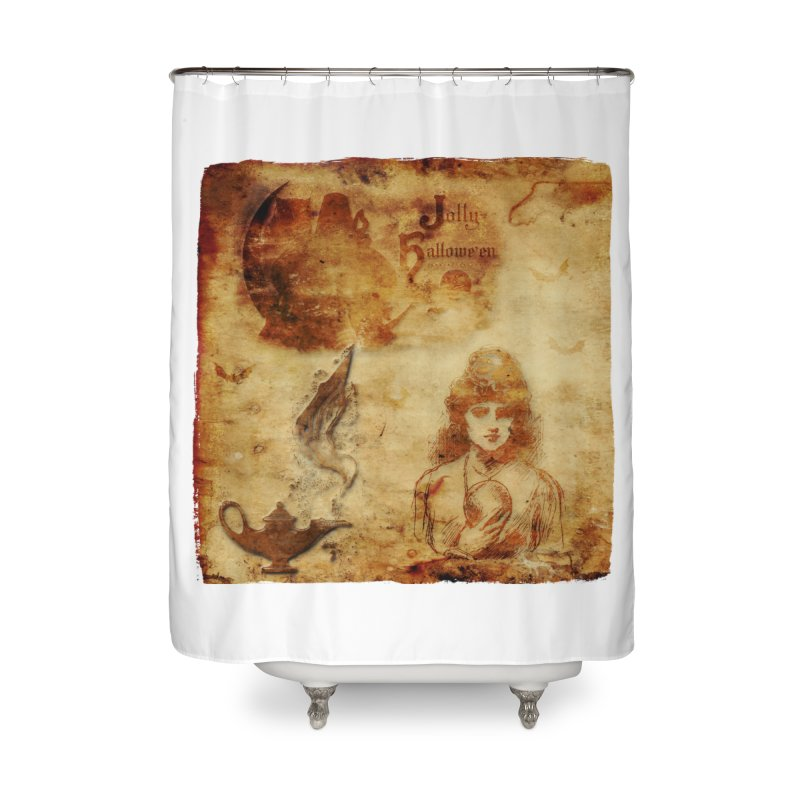 A Jolly Halloween - The Fortune Teller Home Shower Curtain by Maryheartworks's Artist Shop