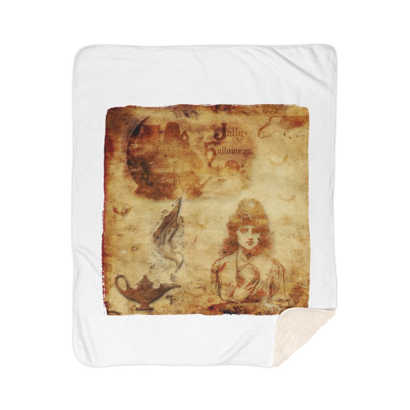 A Jolly Halloween - The Fortune Teller Home Sherpa Blanket Blanket by Maryheartworks's Artist Shop