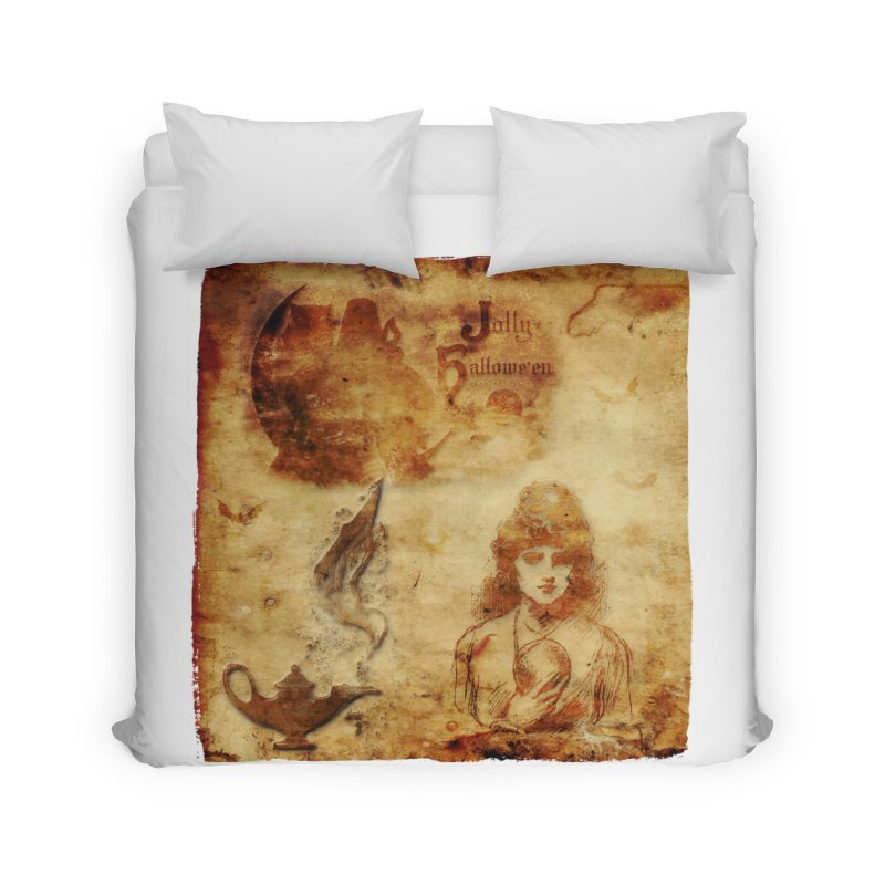 A Jolly Halloween - The Fortune Teller Home Duvet by Maryheartworks's Artist Shop