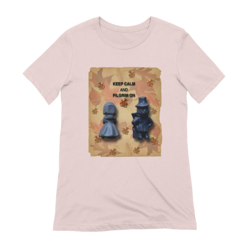 Keep Calm And Pilgrim On Women's Extra Soft T-Shirt by Maryheartworks's Artist Shop