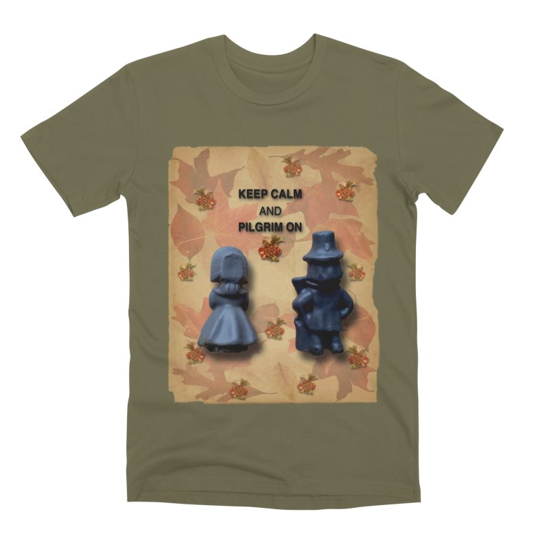 Keep Calm And Pilgrim On Men's Premium T-Shirt by Maryheartworks's Artist Shop