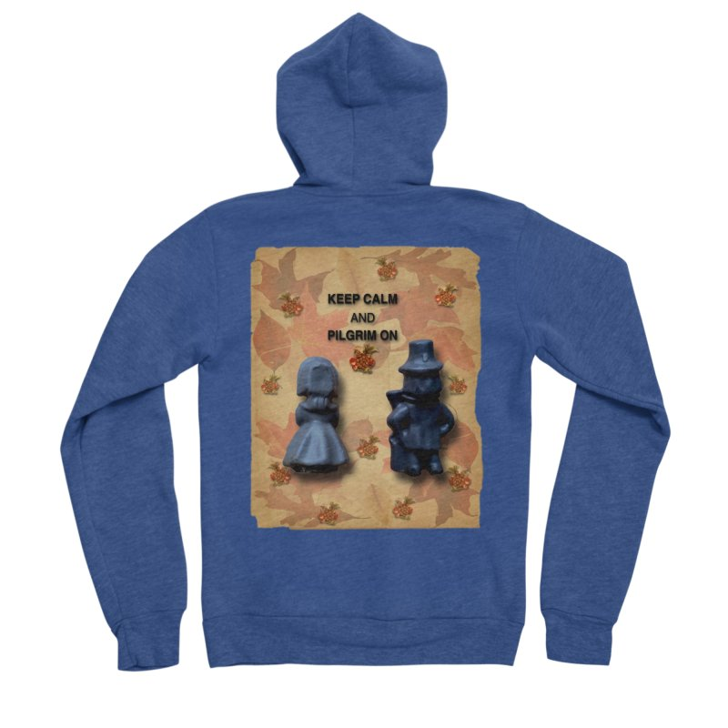 Keep Calm And Pilgrim On Women's Sponge Fleece Zip-Up Hoody by Maryheartworks's Artist Shop