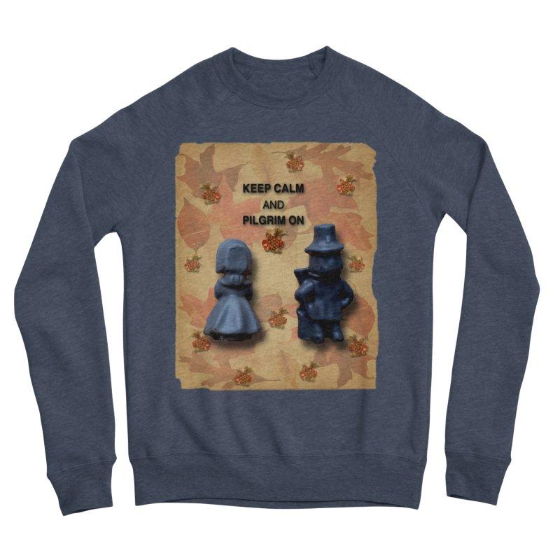 Keep Calm And Pilgrim On Men's Sponge Fleece Sweatshirt by Maryheartworks's Artist Shop