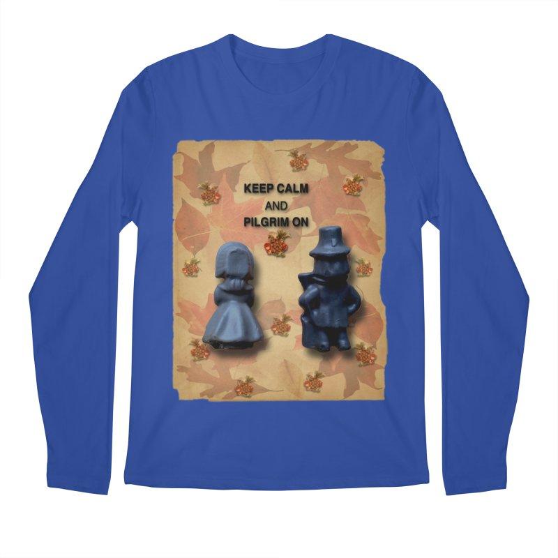 Keep Calm And Pilgrim On Men's Regular Longsleeve T-Shirt by Maryheartworks's Artist Shop