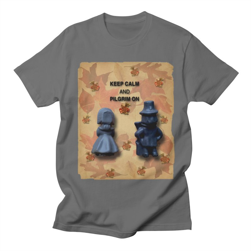 Keep Calm And Pilgrim On Men's T-Shirt by Maryheartworks's Artist Shop