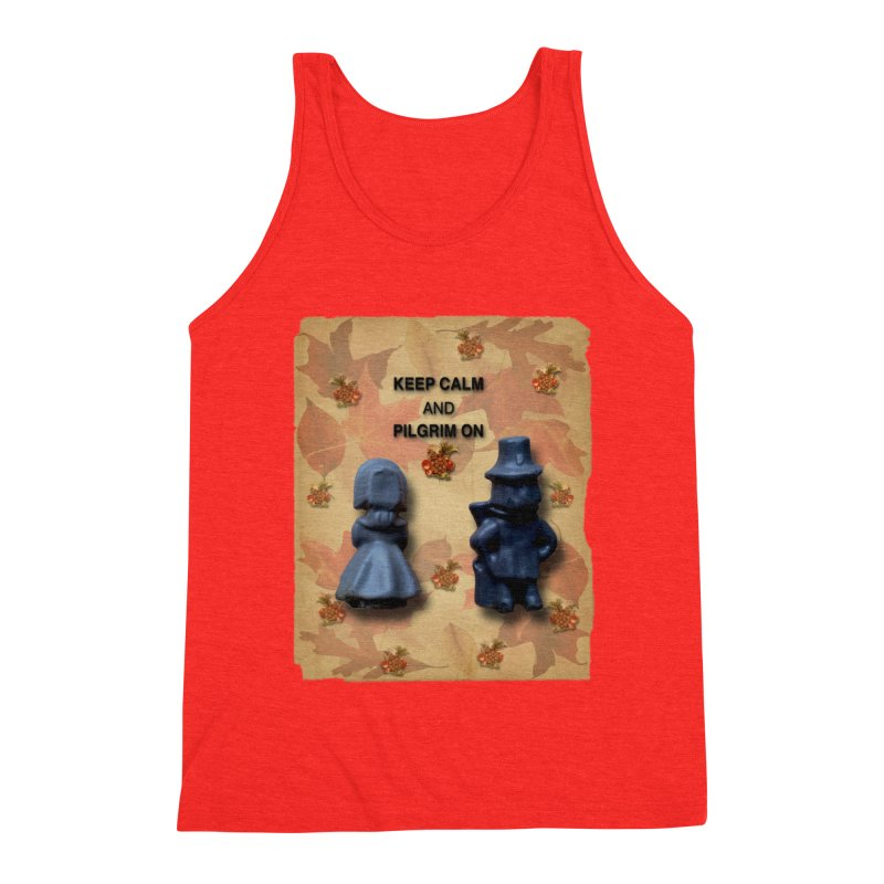 Keep Calm And Pilgrim On Men's Tank by Maryheartworks's Artist Shop