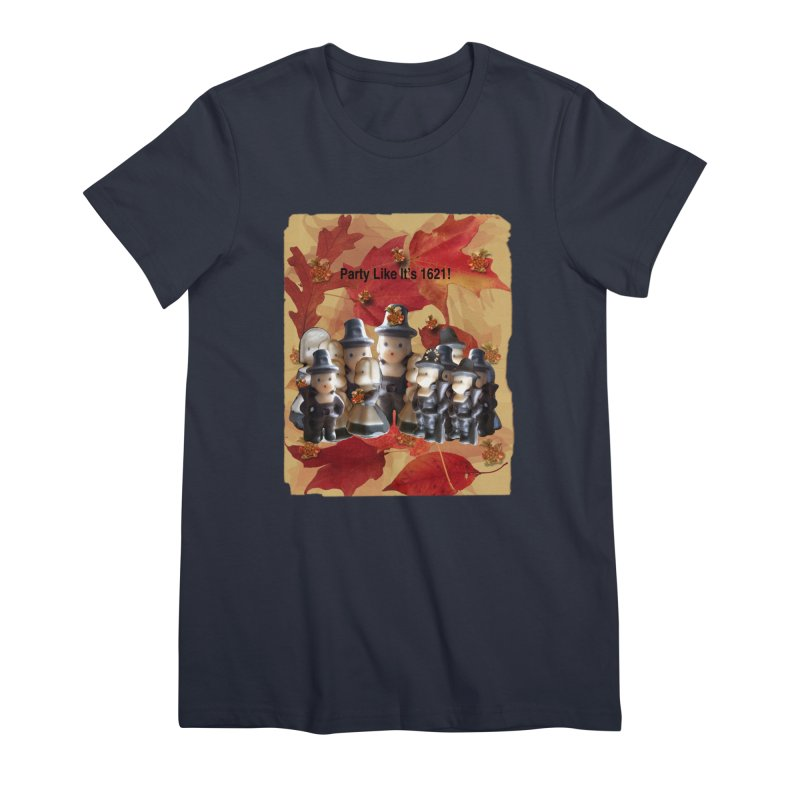 Party Like It's 1621! Women's Premium T-Shirt by Maryheartworks's Artist Shop