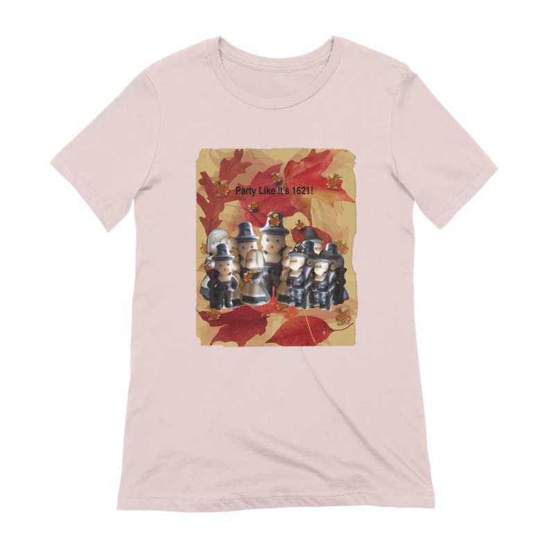 Party Like It's 1621! Women's Extra Soft T-Shirt by Maryheartworks's Artist Shop