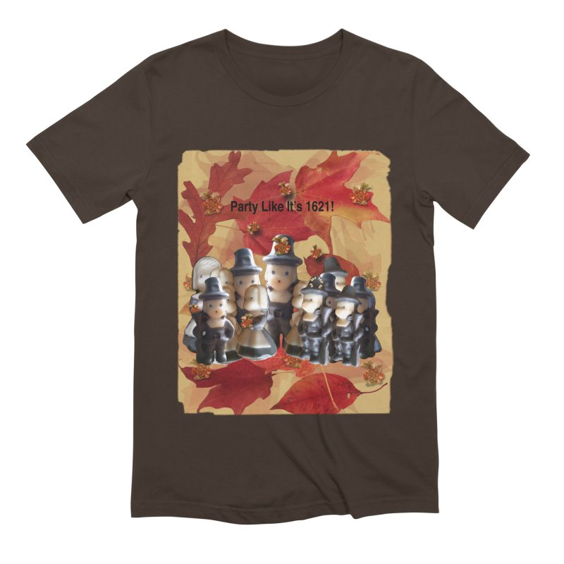 Party Like It's 1621! Men's Extra Soft T-Shirt by Maryheartworks's Artist Shop