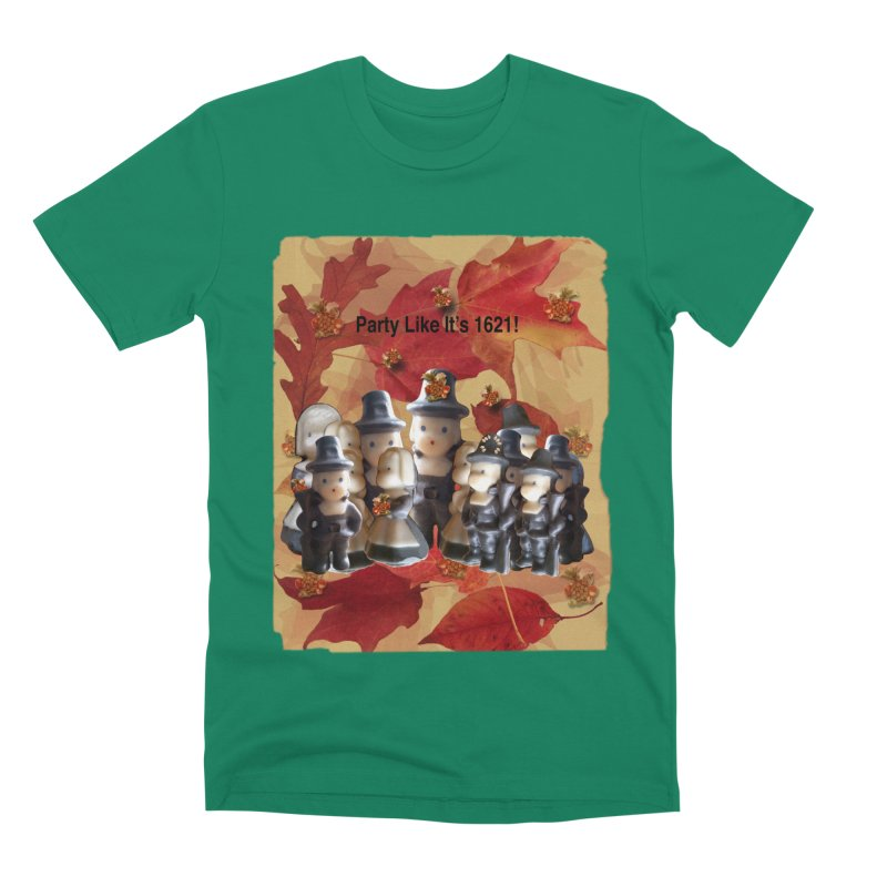 Party Like It's 1621! Men's Premium T-Shirt by Maryheartworks's Artist Shop