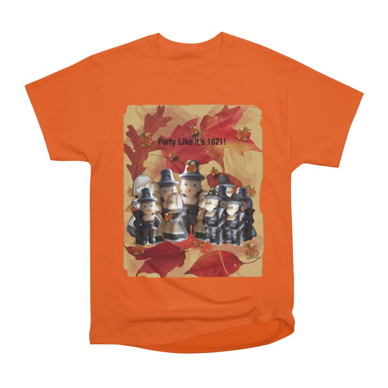 Party Like It's 1621! Men's Heavyweight T-Shirt by Maryheartworks's Artist Shop