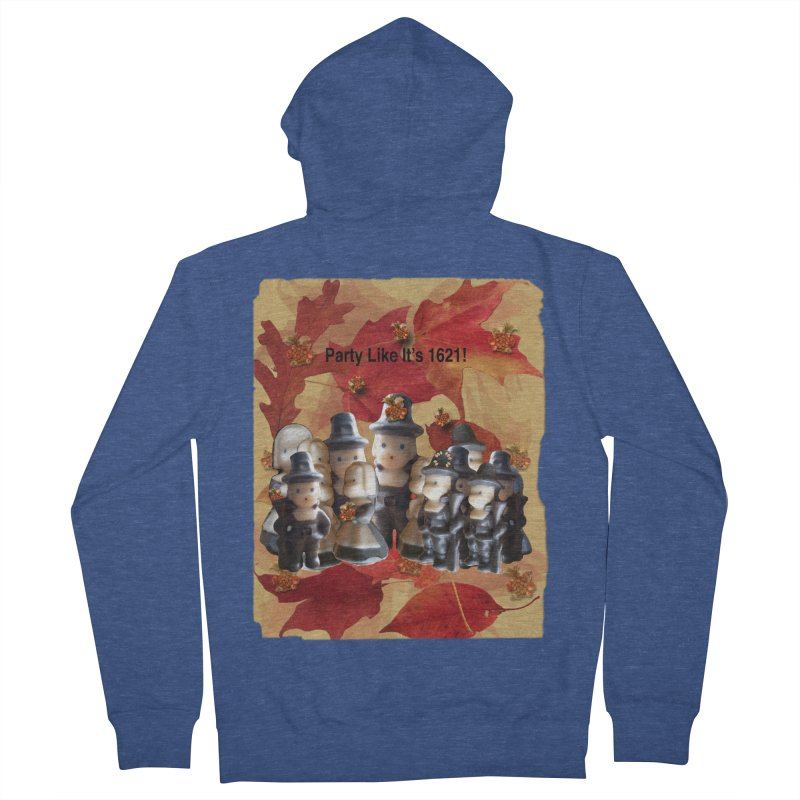 Party Like It's 1621! Women's French Terry Zip-Up Hoody by Maryheartworks's Artist Shop