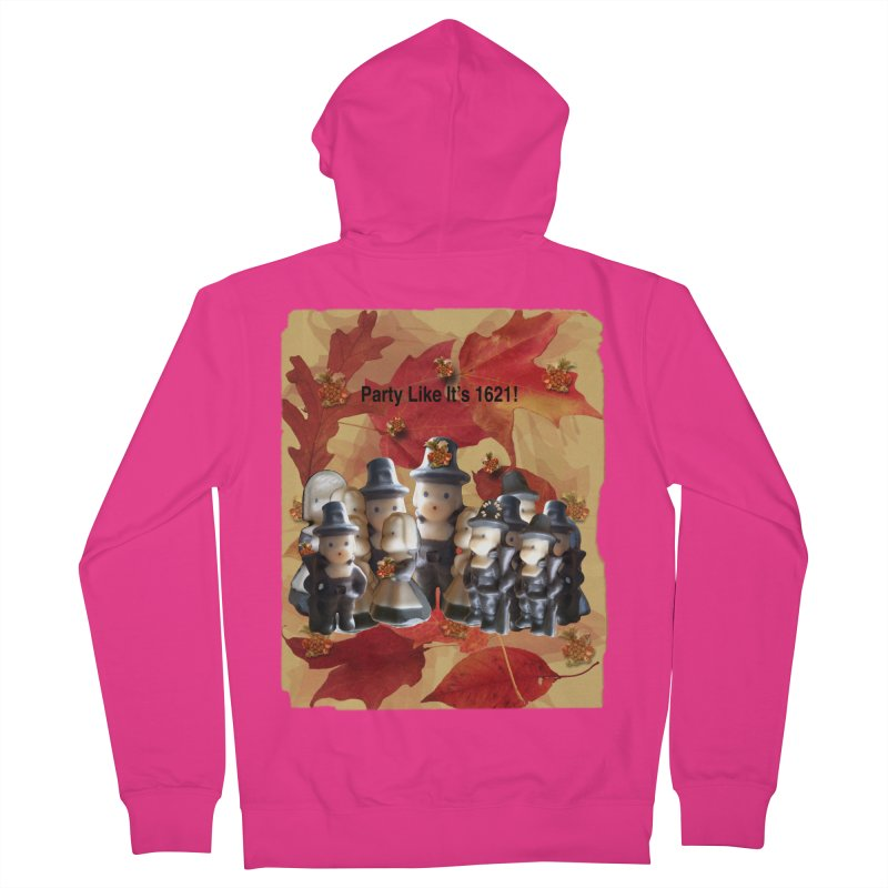 Party Like It's 1621! Men's French Terry Zip-Up Hoody by Maryheartworks's Artist Shop