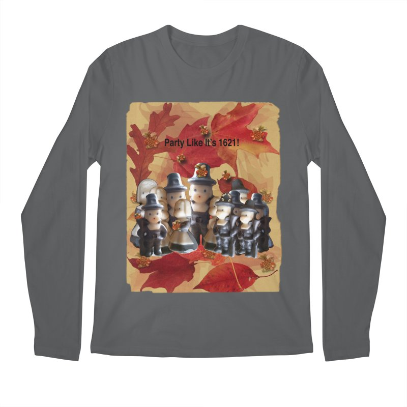 Party Like It's 1621! Men's Regular Longsleeve T-Shirt by Maryheartworks's Artist Shop