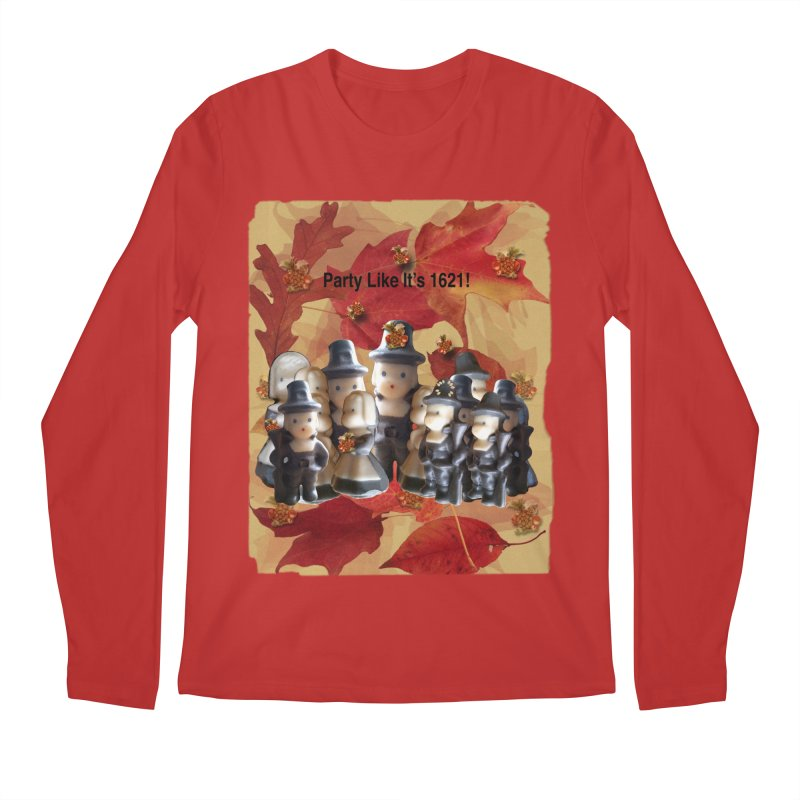 Party Like It's 1621! Men's Regular Longsleeve T-Shirt by Maryheartworks's Artist Shop