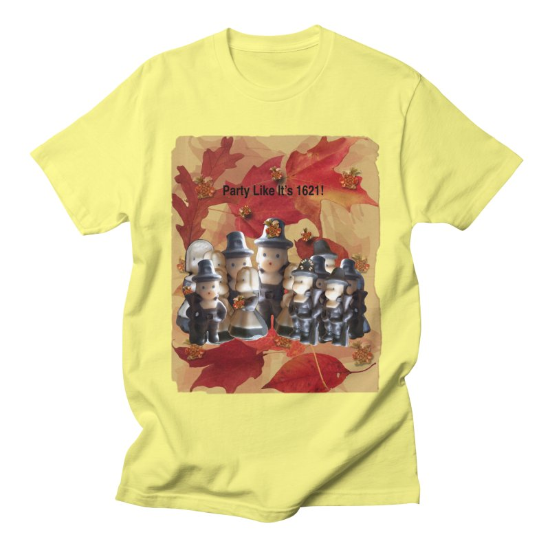 Party Like It's 1621! Men's Regular T-Shirt by Maryheartworks's Artist Shop