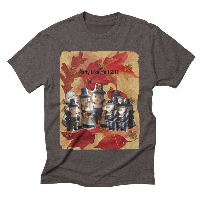 Party Like It's 1621! Men's Triblend T-Shirt by Maryheartworks's Artist Shop