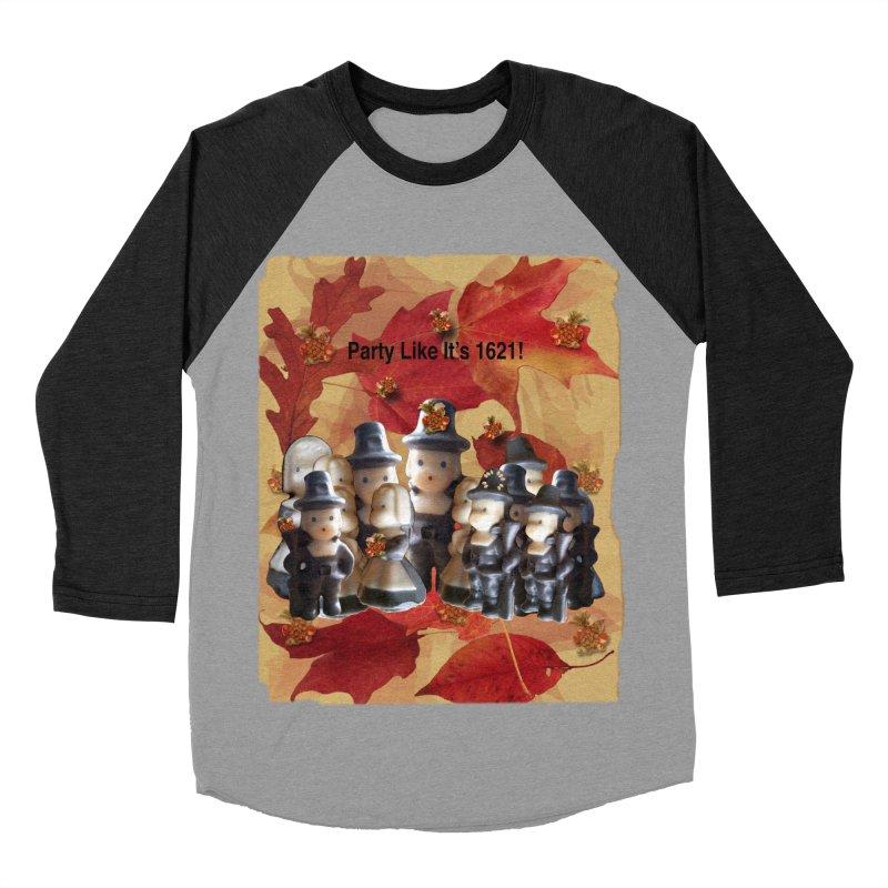 Party Like It's 1621! Women's Baseball Triblend Longsleeve T-Shirt by Maryheartworks's Artist Shop