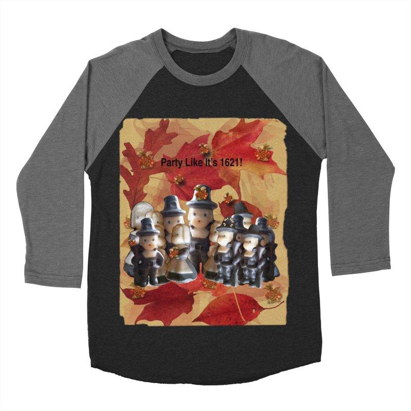 Party Like It's 1621! Men's Baseball Triblend Longsleeve T-Shirt by Maryheartworks's Artist Shop