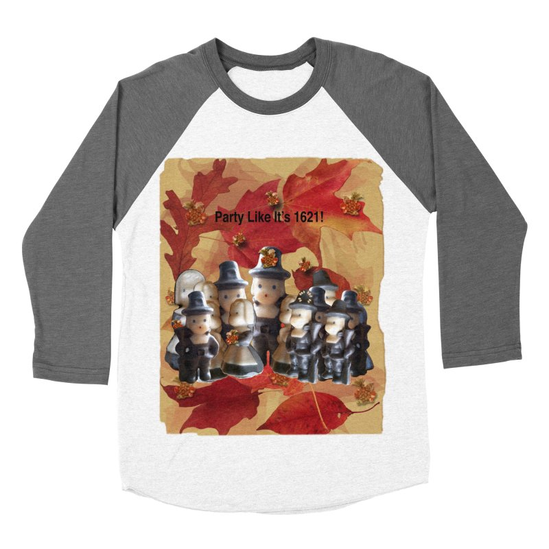 Party Like It's 1621! Men's Baseball Triblend Longsleeve T-Shirt by Maryheartworks's Artist Shop