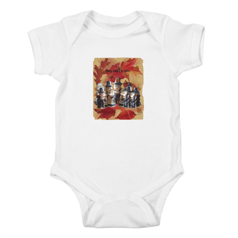 Party Like It's 1621! Kids Baby Bodysuit by Maryheartworks's Artist Shop