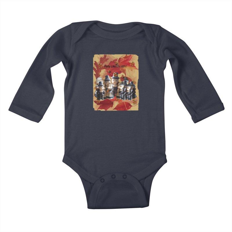 Party Like It's 1621! Kids Baby Longsleeve Bodysuit by Maryheartworks's Artist Shop