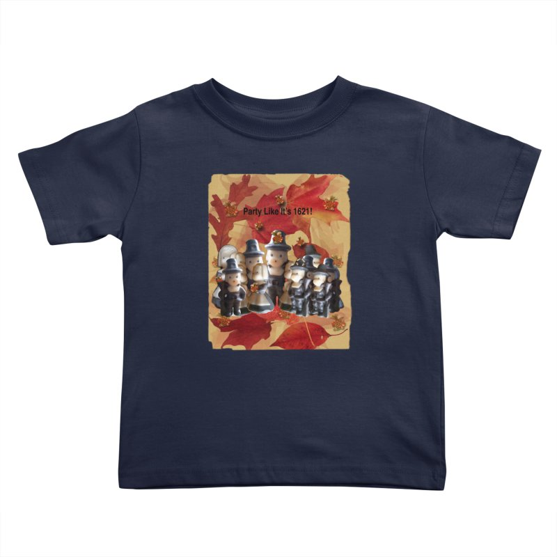 Party Like It's 1621! Kids Toddler T-Shirt by Maryheartworks's Artist Shop