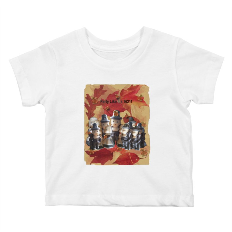Party Like It's 1621! Kids Baby T-Shirt by Maryheartworks's Artist Shop