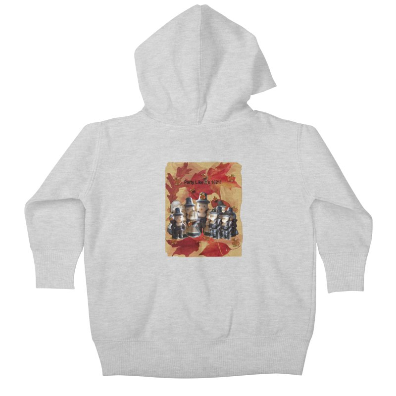 Party Like It's 1621! Kids Baby Zip-Up Hoody by Maryheartworks's Artist Shop