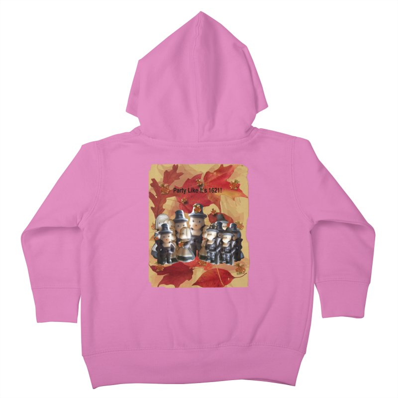 Party Like It's 1621! Kids Toddler Zip-Up Hoody by Maryheartworks's Artist Shop