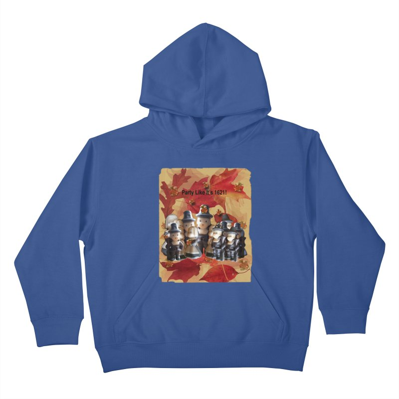 Party Like It's 1621! Kids Pullover Hoody by Maryheartworks's Artist Shop